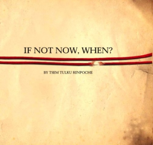 If Not Now, When? Tsem Tulku Rinpoche