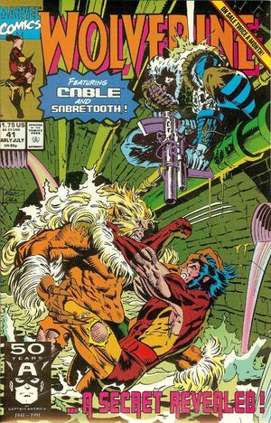 Wolverine Vol 2 #41  by  Larry Hama