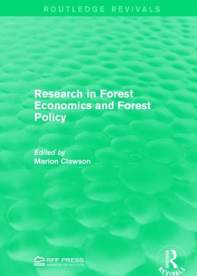 Research in Forest Economics and Forest Policy Marion Clawson