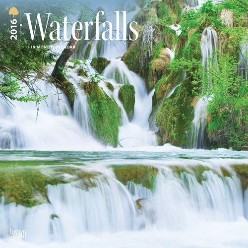 Waterfalls 2016 Square 12x12  by  Browntrout Publishers