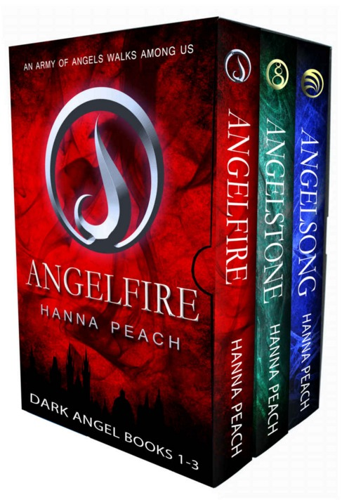 Dark Angel Series Books 1-3: Angelfire, Angelstone, Angelsong (Dark Angel, #1-3)  by  Hanna Peach