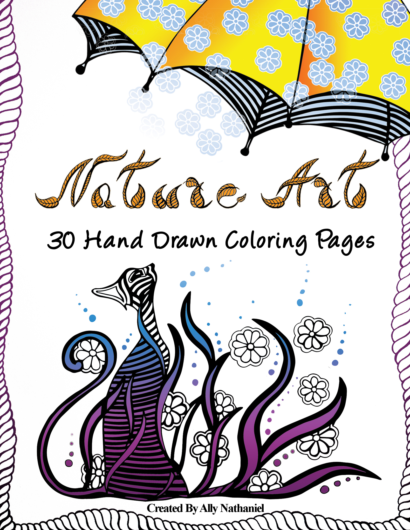 Nature Art: Adults Coloring Pages with Printable Sample  by  Ally Nathaniel