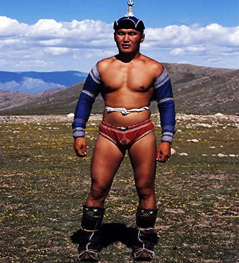 Mongolian wrestler Pictures, Images and Photos
