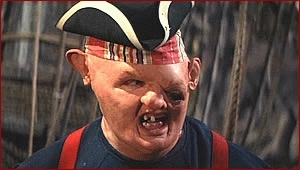 Sloth from Goonies in his pirate garb