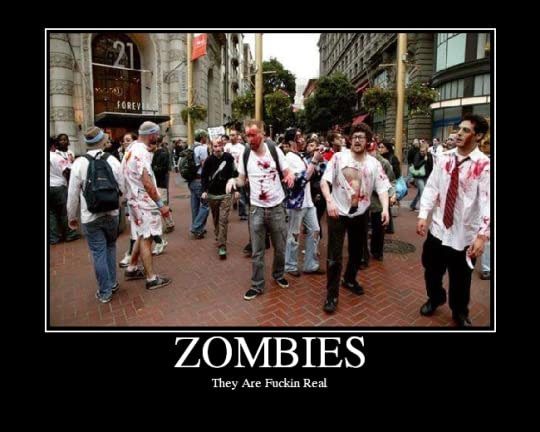 Zombies Motivational Poster Pictures, Images and Photos
