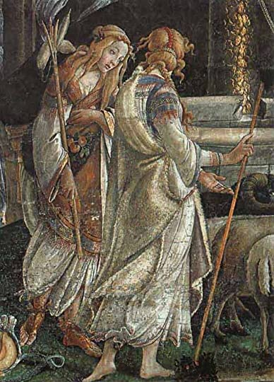 Botticelli Trials of Moses cropped to Zipporah