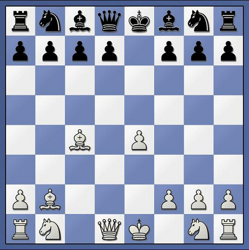 Position after 5. Bxb2