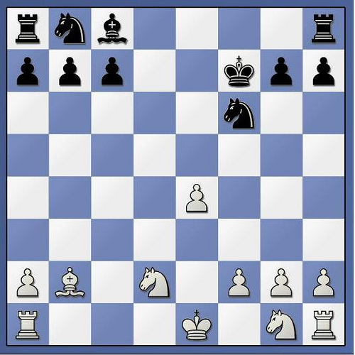 Position after 10. Nxb2