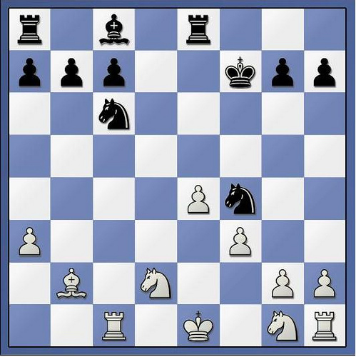 Position after 13... Nf4