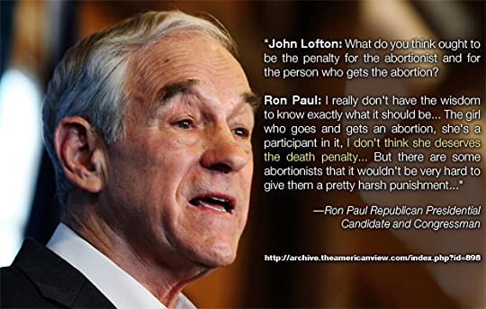 Ron Paul on the punishment for abortion.