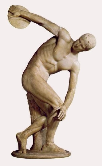Discobolus copy from Myron original