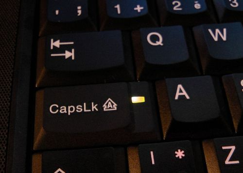 Turn your Caps Lock key OFF!