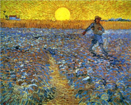 The Sower (Sower with Setting Sun) - Vincent van Gogh
