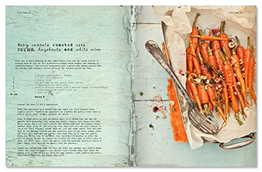 Baby carrots roasted with thyme, hazelnuts and white wine - from What Katie Ate p.206