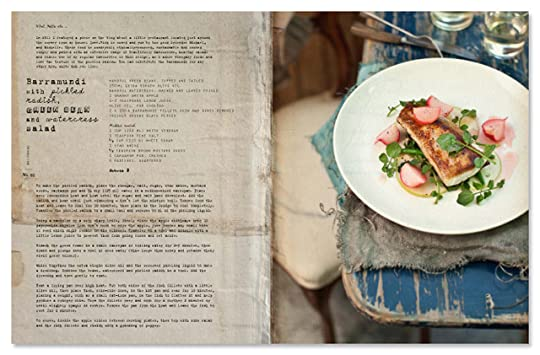 Barramundi with pickled radish, green bean and watercress salad - from What Katie Ate p.68