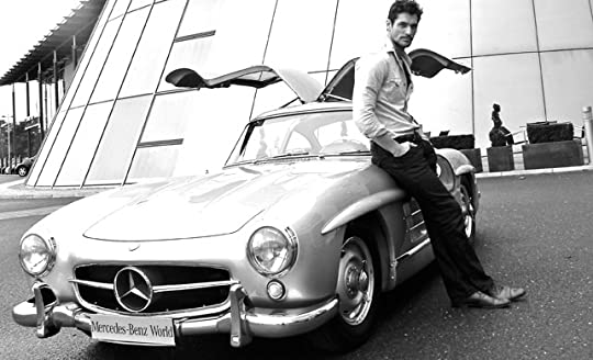 David Gandy with Mercedes Gullwing