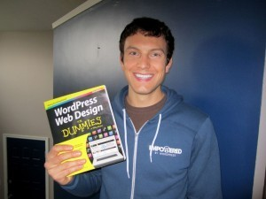 Chad Warner with WordPress Web Design for Dummies