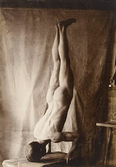 male nude headstand