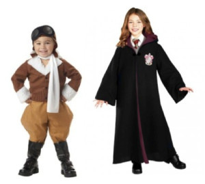 Amelia Earhart and Hermione Granger costumes via A Mighty Girl