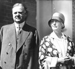 Herbert and Lou Henry Hoover in their Washington, DC home the morning after he was nominated to run for president (1928). (Courtesy: The Herbert Hoover Presidential Library & Museum)