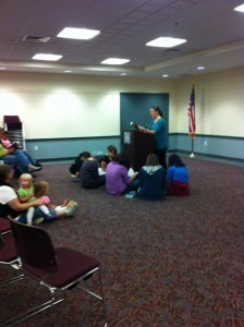 Book Singing with students at my feet