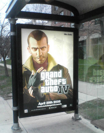 GTA Bus Shelter Ad