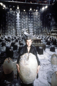 Giger with cape