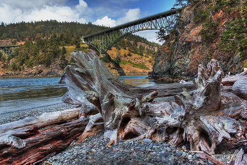Deception Pass, we are on the way to Whidbey Island