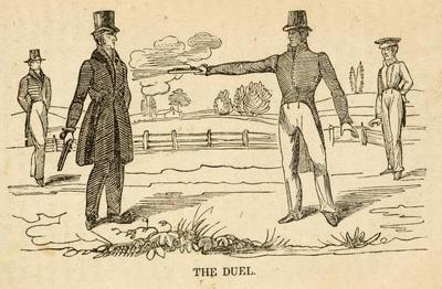 The Duel Illustration Life of Andrew Jackson