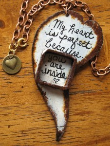My heart is perfect pendant