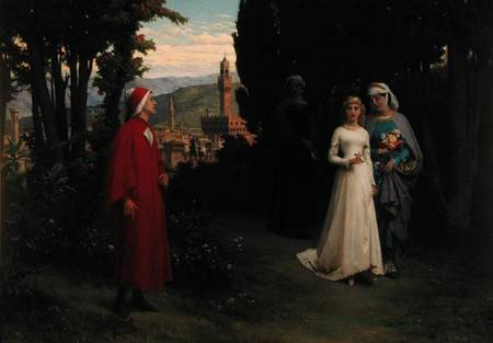 Dante and Beatrice, as referenced by Eliade