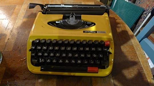Typewriter upstairs in the office.