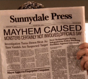Mayhem in Sunnydale. Monsters certainly not involved