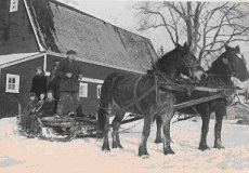 Father and a team of horses often rescued us from a blizzard at school. No rescue was more welcome!