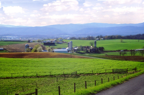 Early spring in the Shenandoah Valley of Virginia