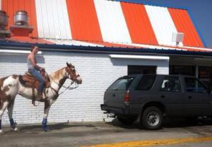 Horse at Whataburger