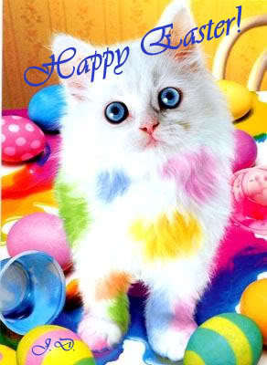 Happy Easter photo: easter cat CATCOLOREASTERART.jpg