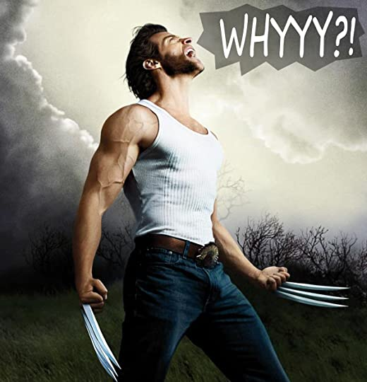 wolverine yelling whyyy into a storm
