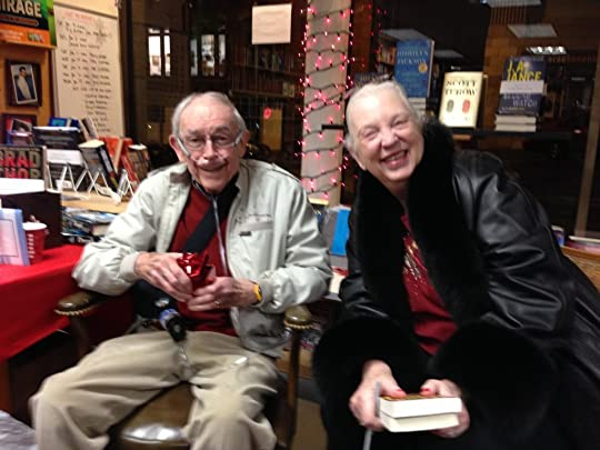Photo of J.A. Jance and Bill Farley, December 21, 2013.