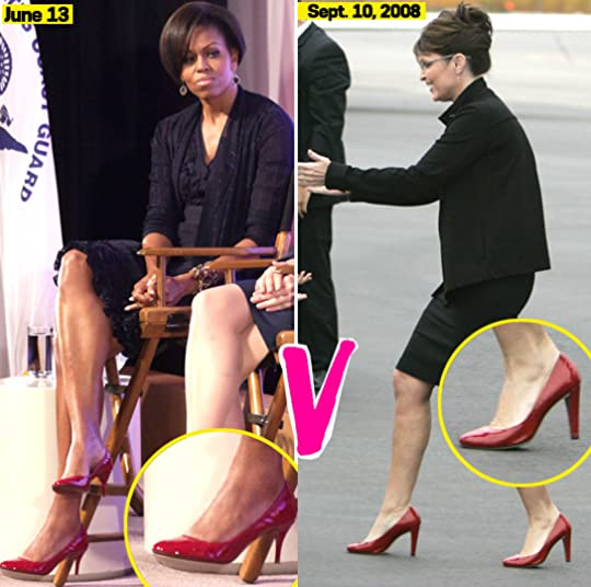 Michelle Obama and Palin red heels