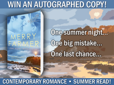 Autographed paperback giveaway of ONE NIGHT WITH A STAR by Merry Farmer