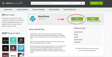 Wordpress Installation Details: Author Website