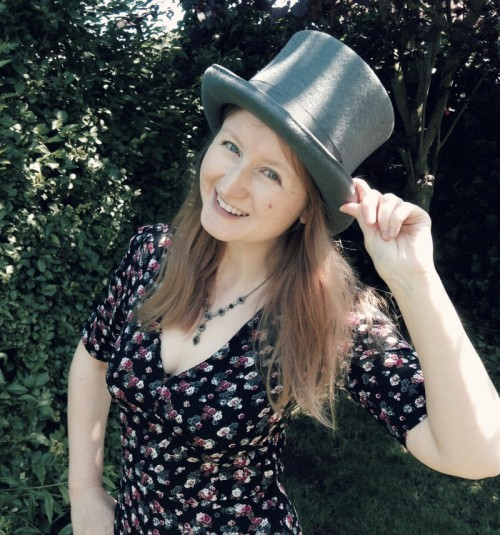 Author in a top hat