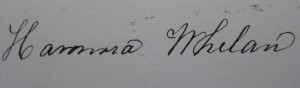 Signature of Nora as a married woman