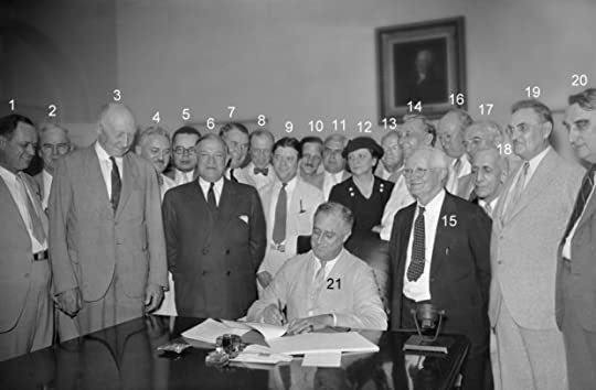 President Franklin D. Roosevelt, signing the Social Security Act (August 14, 1935) Photo Source Social Security Administration website