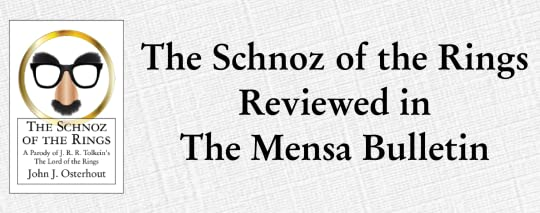 Schnoz cover and The Schnoz Reviewed in the Mensa Bulletin