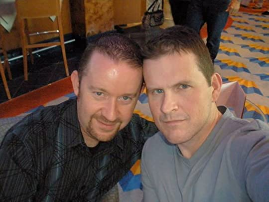 Mike and me, sometime in 2010. We still mostly look like this, which is to say we're holding up well and probably a little tipsy.
