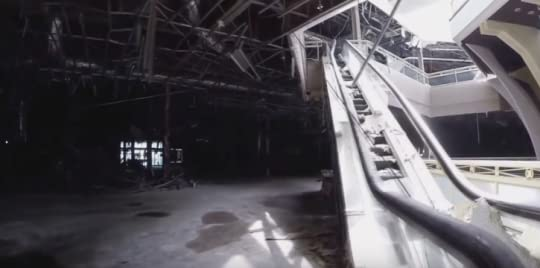 Drone Footage of an Abandoned Shopping Mall