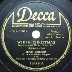 White Christmas by Bing Crosby on Decca Records