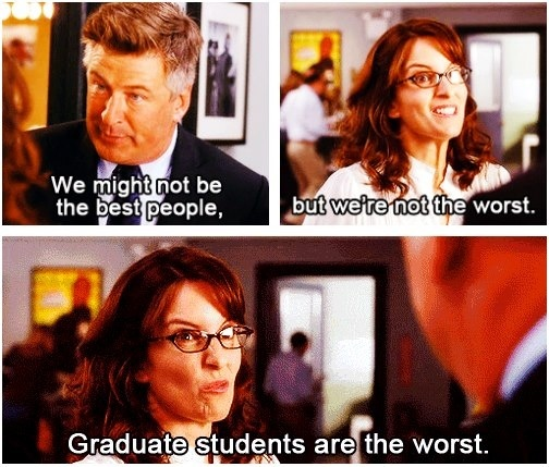 30 rock graduate students are the worst
